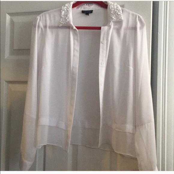 Topshop Tops - TopShop Embellished shirt, size 6